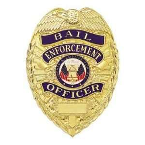 Official Bail Enforcement Officer Permit Shield Badge   Blackinton