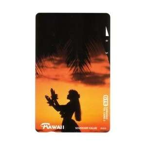 Collectible Phone Card 3u Hula Girl By Night (Tel