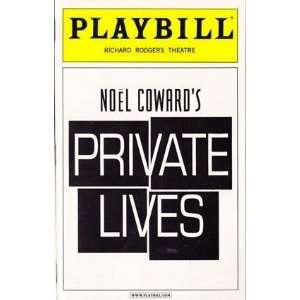 Playbill from Private Lives starring Alan Rickman Lindsay Duncan Adam