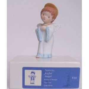NATIVITY: Joyful Angel   Painted Bisque   1983: Everything