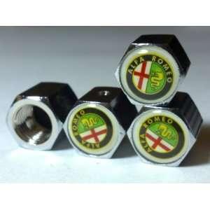 Alfa Romeo Anti theft Car Wheel Tire Valve Stem Caps