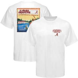 NCAA Alabama Crimson Tide Sportsmans Paradise Fishing Magazine T