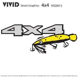 4X4 FISHING LURE TRUCK GRAPHICS Decals Stickers