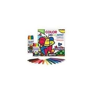 Romero Britto By Pkolino, Coloring Book, Crayons & Hexagon