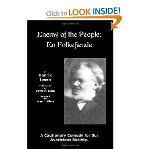 An Enemy of the People En Folkefiende Jean H. Klein, David H. Klein