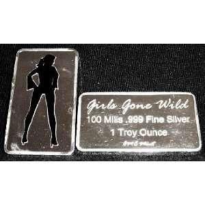 100 Mill .999 Fine Silver Girls Gone Wild #13 Art Bar *KromeProducts