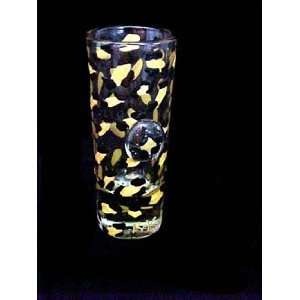 Gold Leopard Design   Hand Painted   Shooter Glass   1.5