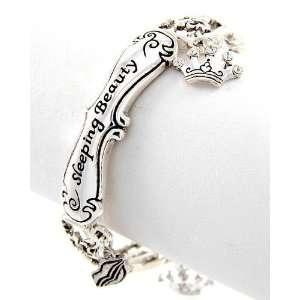 Sleeping Beauty Stretch Bracelet Crown Lips Heart Fleur De