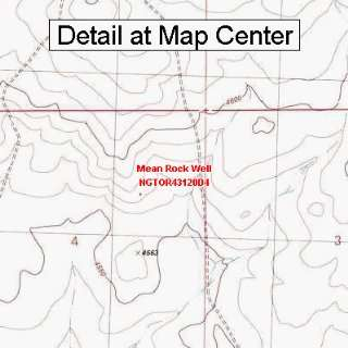USGS Topographic Quadrangle Map   Mean Rock Well, Oregon