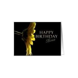 Happy Birthday Boss, Yellow Daisy Card Health & Personal