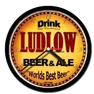 LUDLOW beer and ale cerveza wall clock: Everything Else