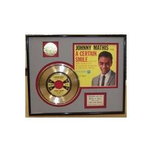 JOHNNY MATHIS Gold Record Limited Edition Collectible