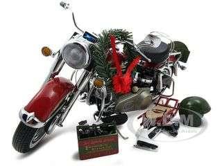 2010 Harley Davidson Electra Glide Christmas Bike Diecast Model 1/10 1