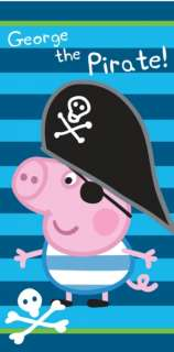 Peppa Pig George Pig Pirate Beach Bath Towel