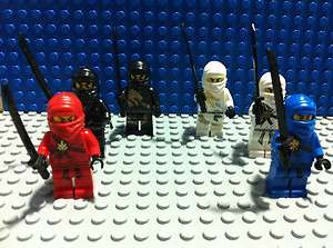 Lego Ninjago Minifigures   Zane DX, Cole DX, Jay, Kai, Zane, Cole   U