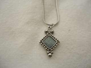 LIA SOPHIA Silver Diamond Pendant Necklace N46 20 inch
