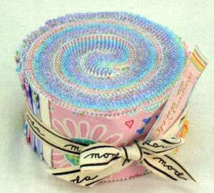 SPRING MEADOW JELLY ROLL Moda Cheri Strole Fabric rolls