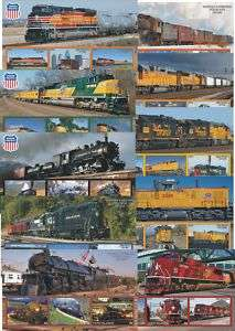 TRAINS TRAIN STEAM LOCOMOTIVES 10 S/SHEETS MNH IMPERFORATED