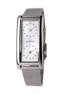 Skagen Ladies Dual Time Watch with Mesh Band