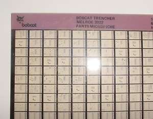MELROE BOBCAT 3022 TRENCHER PARTS MICROFICHE