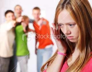 Teenage girl is sad, victim of ridicule Royalty Free Stock Photo