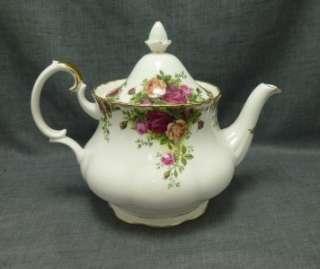 Country Roses Tea Pot 6 cup 1962 Royal Albert Bone China Mint