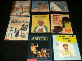 AFRICAN AMERICAN CHILDREN BOOK LOT black history biography child