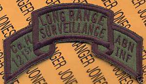 Co H 121 Inf LRS GAARNG AIRBORNE RANGER scroll patch OD