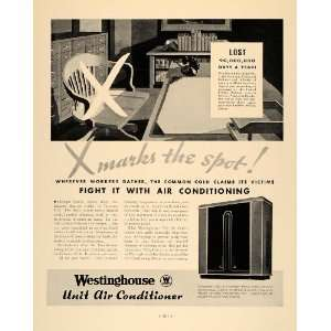 1933 Ad Westinghouse Unit Air Conditioner Micarta Style