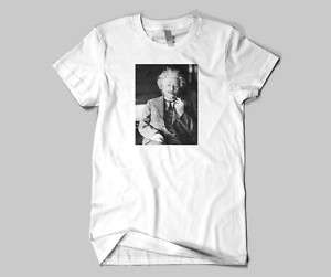 Albert Einstein Smoking his Pipe T Shirt