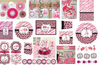 SWEET SAFARI GIRL BABY SHOWER PARTY SUPPLIES ~ Create YOUR SET ~ YOU