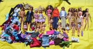 Barbie KEN Kelly SKIPPER Doll BIG 5# Lot w/ Clothes some BRATZ Outfits