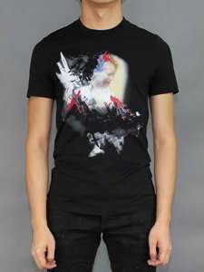 GIVENCHY 11AW NWT BLACK ANGEL PRINT JERSEY T SHIRT