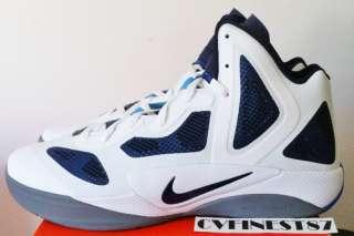 Hyperfuse 2011 White Navy Blue Men Basketball Shoe Blake Griffin Sz 10