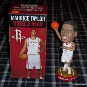 Taylor Houston Rockets Bobblehead Basketball SGA W/ Original Box
