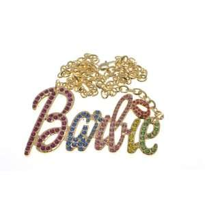 NEW NICKI MINAJ BARBIE Pendant w/18 Chain Gold Lg Multi Jewelry
