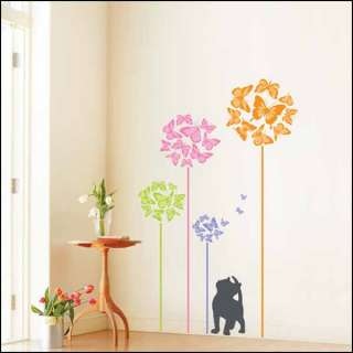 REMOVABLE BUTTERFLY DOOR WALL DECAL STICKERS PS58090