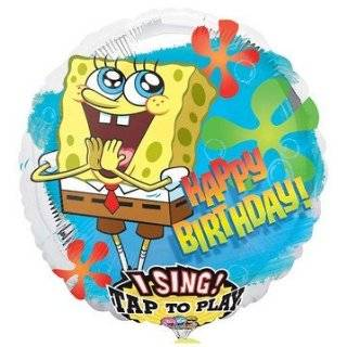 Happy Birthday Spongebob Squarepants Sing a Tune Foil Balloon 28