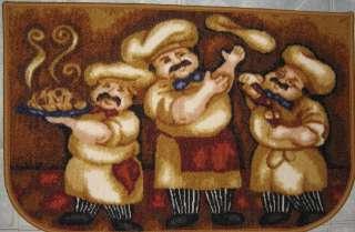 Fat Chef Italian Bistro Al Dente Kitchen Mat Rug 17x27