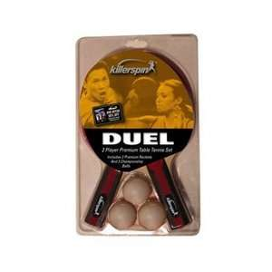 Killerspin Duel   Two Table Tennis Rackets and Three Ball