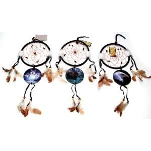 Wolf Bear and Eagle Dream Catchers Set of 3