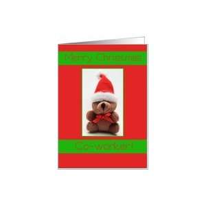Merry Christmas Teddy bear card for co worker Card Health