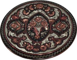 Handcrafted Copper Decorative Hanging Wall Plate   Turkish Artisan
