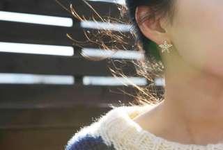 Korean Fashion Elegant Full Pearl Starfish Gold Color Earrings Z1025