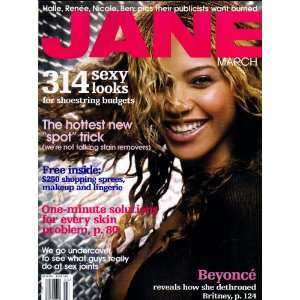 Beyonce Knowles Cover Jane Magazine March 2003