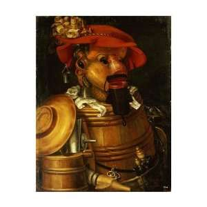 The Waiter Winemaking by Giuseppe Arcimboldo. Size 16.85 inches width