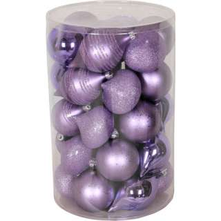 Holiday Time 35 Piece Shatterproof Christmas Ornament Set