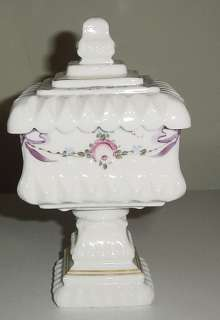 Westmoreland Milk Glass Roses & Bows Covered Candy Box