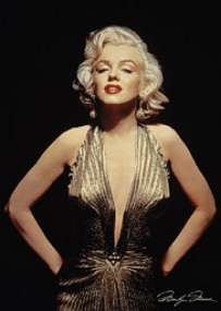 Marilyn Monroe Gold Dress Vintage Poster