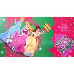 Disney Princesses CHRISTMAS Gift Wrap Wrapping Paper Sheet